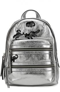 Кожаный рюкзак Gotham Flocked Animals с вышивкой пайетками Marc Jacobs
