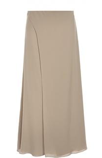 Шелковая юбка прямого кроя с завышенной талией Ralph Lauren
