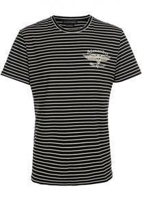 Хлопковая футболка в полоску Alexander McQueen