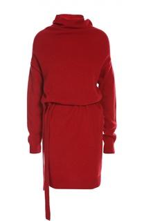 Вязаное платье с поясом Lanvin