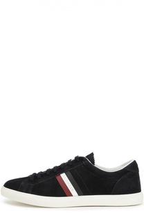 Замшевые кеды на шнуровке Moncler