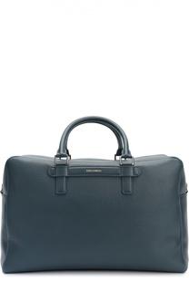 Дорожная сумка Mediterraneo из тисненой кожи Dolce & Gabbana