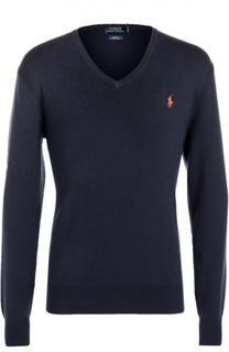 Хлопковый пуловер с V-образным вырезом Polo Ralph Lauren