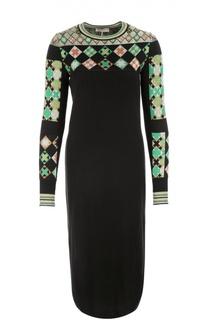 Платье-миди прямого кроя с ярким принтом Emilio Pucci