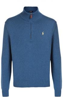 Хлопковый свитер с воротником на молнии Polo Ralph Lauren