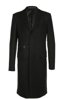 Шерстяное пальто с ремешком Givenchy