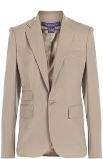 Жакет прямого кроя на одной пуговице с карманами Ralph Lauren
