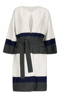 Пальто вязаное с поясом St. John