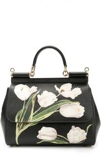 6db590213729 Сумка Sicily medium с цветочным принтом Dolce  amp  Gabbana