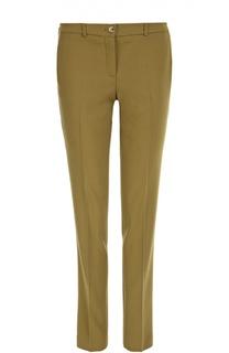 Шерстяные брюки прямого кроя со стрелками Michael Kors
