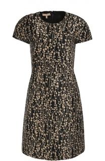 Приталенное платье с цветочным принтом Michael Kors