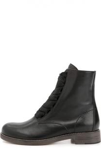 Кожаные ботинки на шнуровке Chloé