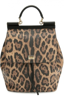 Рюкзак Sicily с леопардовым принтом Dolce & Gabbana