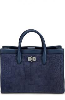 Кожаная сумка Viviana с тиснением Diane Von Furstenberg