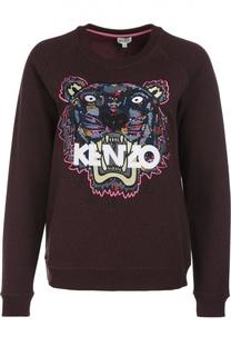 Хлопковый свитшот с вышивкой Tiger Kenzo