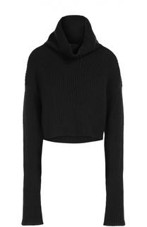 Укороченный свитер с горлом из смеси шерсти и кашемира Valentino