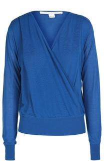 Пуловер с запахом и эластичным поясом Diane Von Furstenberg