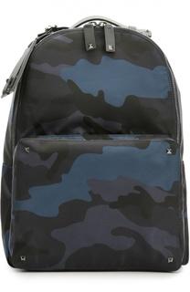 Камуфляжный рюкзак Rockstud с кожаной отделкой Valentino
