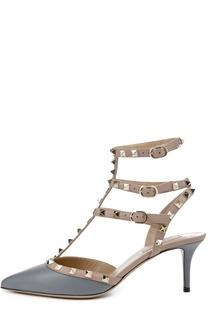 Кожаные туфли Rockstud на шпильке Valentino