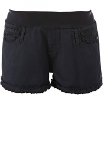 Джинсовые шорты с оборками Pietro Brunelli
