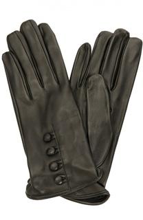 Кожаные перчатки с пуговицами Sermoneta Gloves