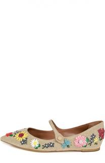 Текстильные туфли с вышивкой Tabitha Simmons