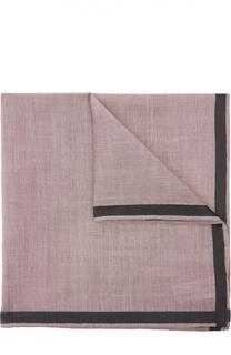 Хлопковый носовой платок с контрастным рантом Simonnot-Godard