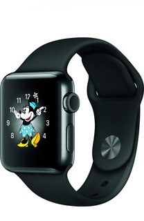 Apple Watch Series 2 38mm Space Black Stainless Steel Case with Sport Band Apple