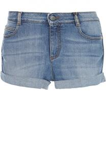 Джинсовые шорты с отворотами Stella McCartney