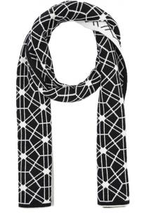Кашемировый шарф с геометрическим узором Johnstons Of Elgin