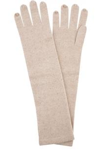 Длинные кашемировые перчатки с кристаллами Swarovski William Sharp