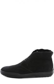 Замшевые ботинки Gomma Xf с внутренней отделкой из овчины Tod's
