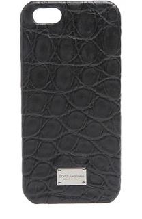Чехол для iPhone SE/5s/5 из кожи крокодила Dolce & Gabbana