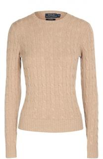 Кашемировый пуловер фактурной вязки с круглым вырезом Polo Ralph Lauren
