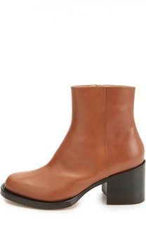 Кожаные ботинки на устойчивом каблуке Dries Van Noten