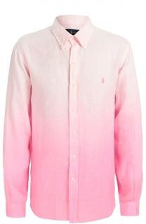 Льняная рубашка с эффектом градиент Polo Ralph Lauren