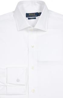 Хлопковая сорочка с манжетами под запонки Polo Ralph Lauren