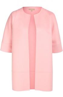 Шерстяное пальто с укороченным рукавом Michael Kors