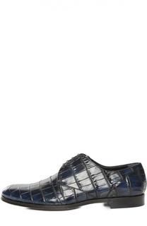 Туфли из кожи крокодила с набором аксессуаров Dolce & Gabbana