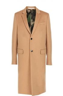 Шерстяное однобортное пальто с английским воротником Valentino