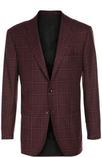 Пиджак из смеси кашемира и шелка с платком Kiton