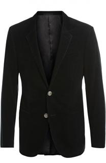 Однобортный пиджак из вельвета Lanvin