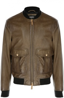 Кожаная куртка-бомбер Pilot Dsquared2