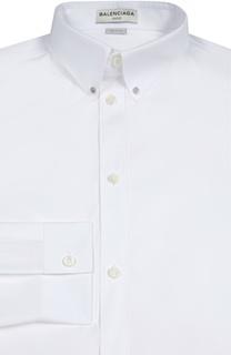 Хлопковая сорочка с воротником button-down Balenciaga