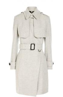 Кашемировое пальто с поясом и укороченным рукавом Burberry