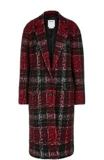 Пальто прямого кроя в контрастную клетку DKNY