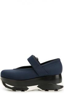 Текстильные туфли с застежкой велькро Marni