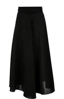 Шерстяная юбка А-силуэта с широким поясом Lanvin