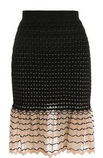 Полупрозрачная юбка-годе с эффектом деграде Alexander McQueen