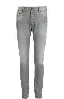Зауженные джинсы с потертостями Diesel
